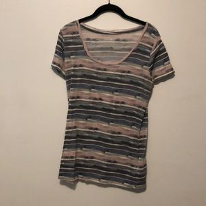 BDG Watercolor Striped T-Shirt Size Large